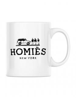 Cana personalizata Homies Alb