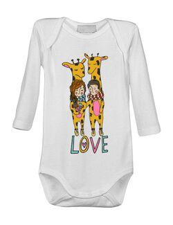 Baby body Giraffes love Alb