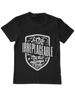 Tricou ADLER copil Irreplaceable Negru