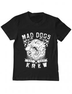 Tricou ADLER copil Mad dogs krew Negru