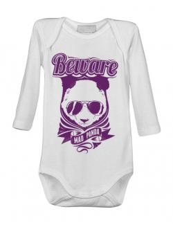 Baby body Mad Panda Alb