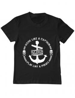 Tricou ADLER copil Old sailor tradition Negru
