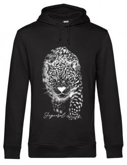 Hoodie barbat cu gluga Jaguarul Alb Negru