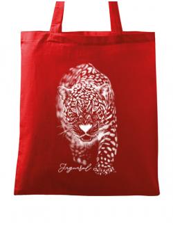 Sacosa din panza Jaguarul Alb Rosu