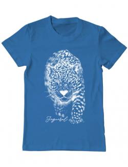 Tricou ADLER barbat Jaguarul Alb Albastru azuriu