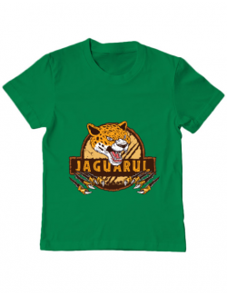 Tricou ADLER copil Jaguarul Verde mediu
