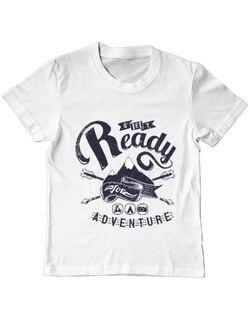 Tricou ADLER copil Ready for adventure Alb
