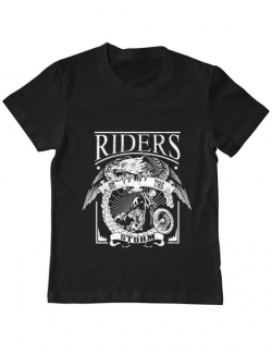 Tricou ADLER copil Riders on the storm Negru