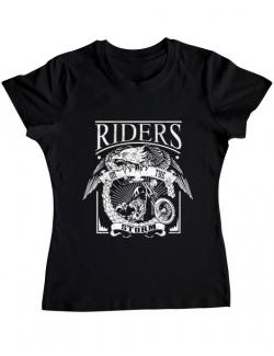 Tricou ADLER dama Riders on the storm Negru