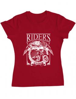 Tricou ADLER dama Riders on the storm Rosu