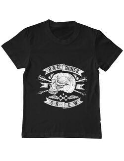 Tricou ADLER copil Skull symbol Negru