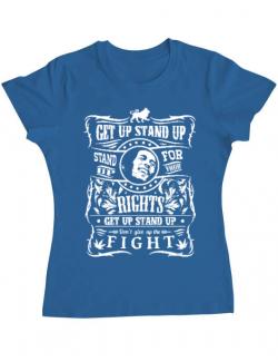 Tricou ADLER dama Stand up for your rights Albastru azuriu
