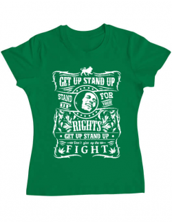 Tricou ADLER dama Stand up for your rights Verde mediu