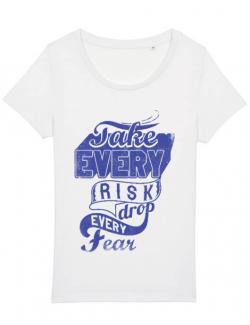 Tricou STANLEY STELLA dama Take every risk Alb