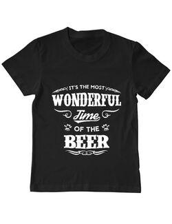 Tricou ADLER copil Wonderful time of the beer Negru