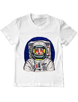 Tricou ADLER copil I need some space Alb