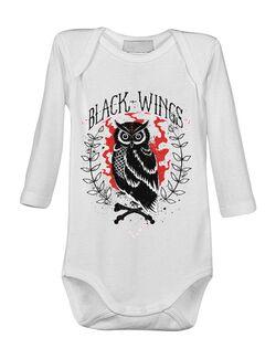 Baby body Black wings Alb