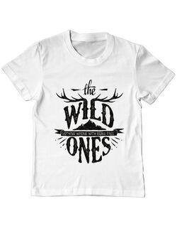 Tricou ADLER copil The Wild Ones Alb