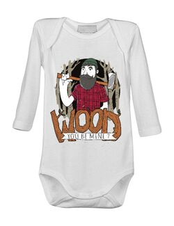 Baby body Wood you be mine Alb