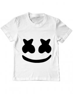 Tricou ADLER copil Marshmello Alb
