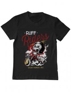 Tricou ADLER copil Ruff riders Negru