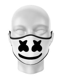 Masca personalizata reutilizabila Marshmello Alb