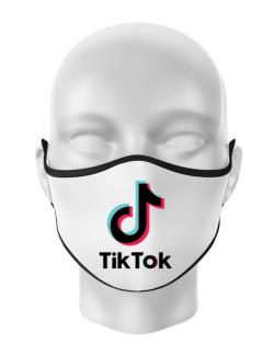 Masca personalizata reutilizabila Tik Tok Alb