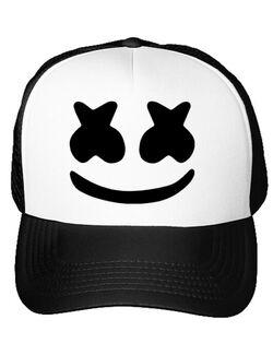 Sapca personalizata Marshmello Alb