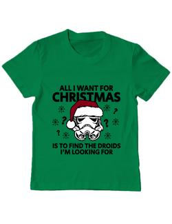 Tricou ADLER copil Christmas Trooper Verde mediu