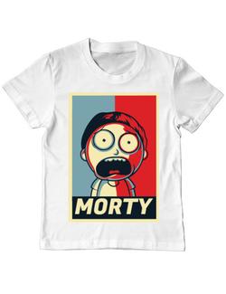 Tricou ADLER copil Morty Alb