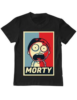 Tricou ADLER copil Morty Negru