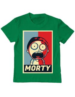 Tricou ADLER copil Morty Verde mediu