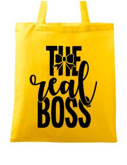 Sacosa din panza The real boss Galben