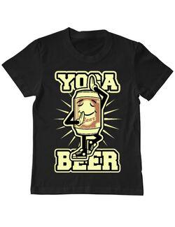 Tricou ADLER copil Yoga beer Negru