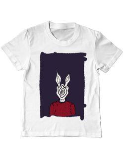 Tricou ADLER copil rabbit hole Alb