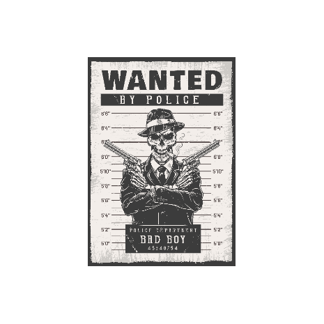 Tricou Wanted by police
