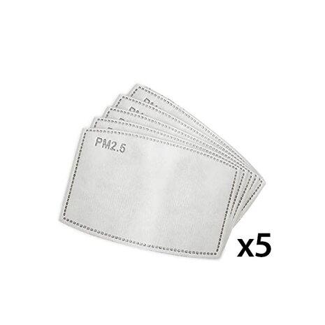 Set 5 filtre tip PM2.5 pentru masti reutilizabile