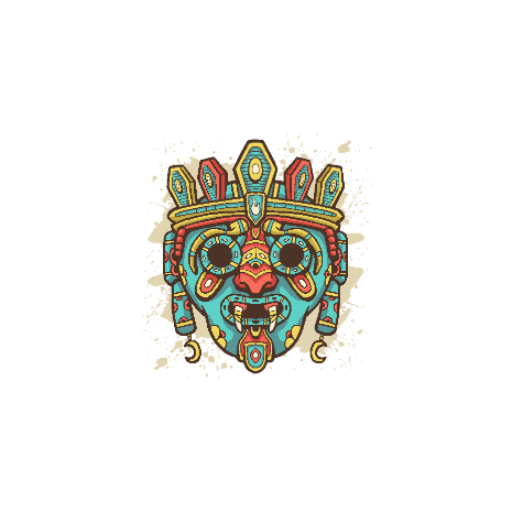 Tricou Ethnic Mask