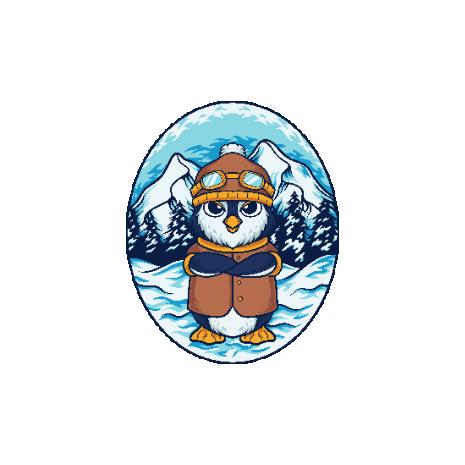 Tricou Winter Penguin