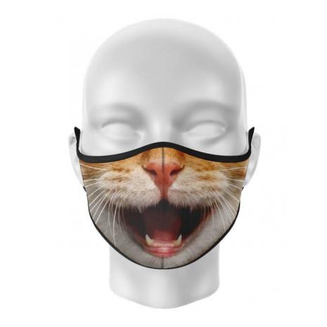 Masca de gura personalizata Happy cat