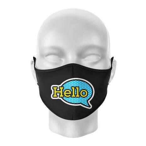 Masca de gura personalizata Hello