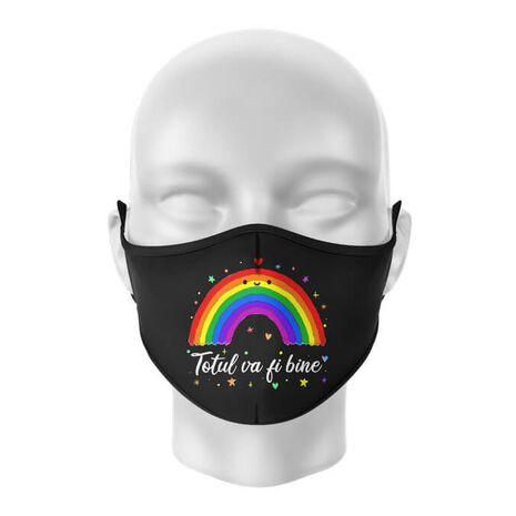 Masca de gura personalizata Totul va fi bine 2