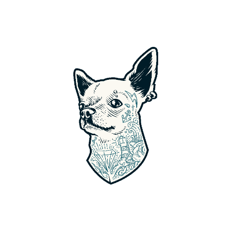 Tricou Tattooed dog