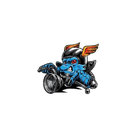 Tricou Wolf Biker