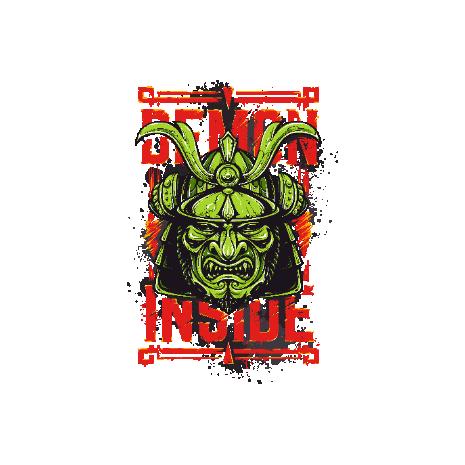 Tricou Demon Inside - Samurai
