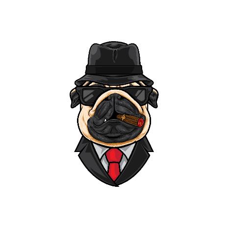 Tricou Pug Mafia MIB