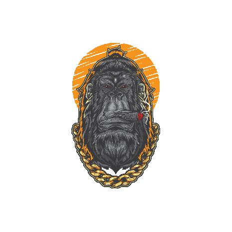 Tricou Hipster Gorilla