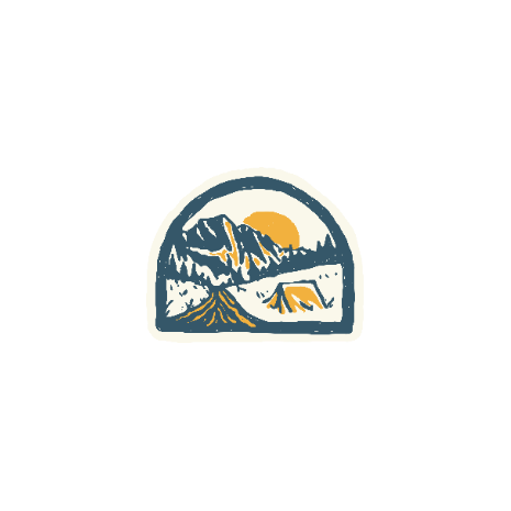 Tricou Camping badge