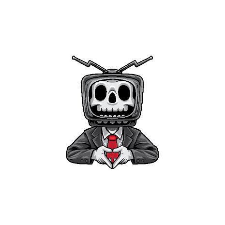 Tricou Skull TV Man