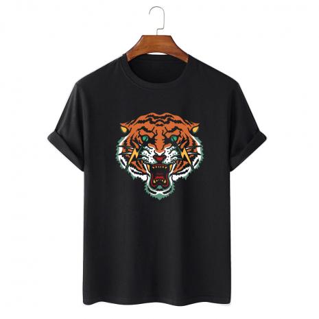 Tricou personalizat negru unisex Flash tiger